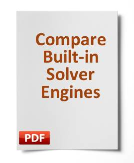 See a comparison of the built-in solver engines