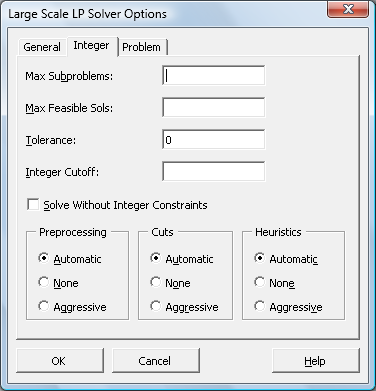 Large-Scale LP/QP Solver Engine for Excel | solver