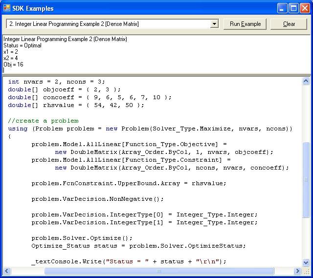 Solver platform sdk source code examples solver Code compiler