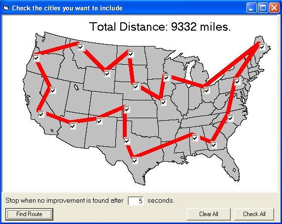 traveling salesman problem solution code