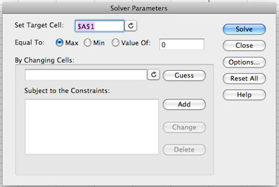 Solver For Mac Excel 2011