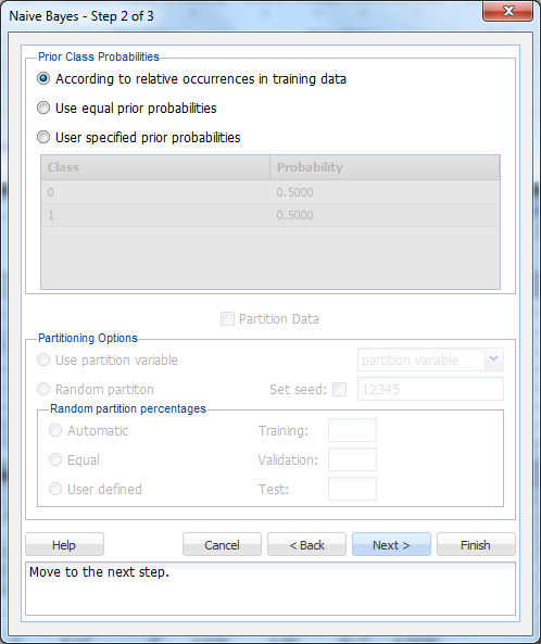 Using Naive Bayes in XLMiner   solver