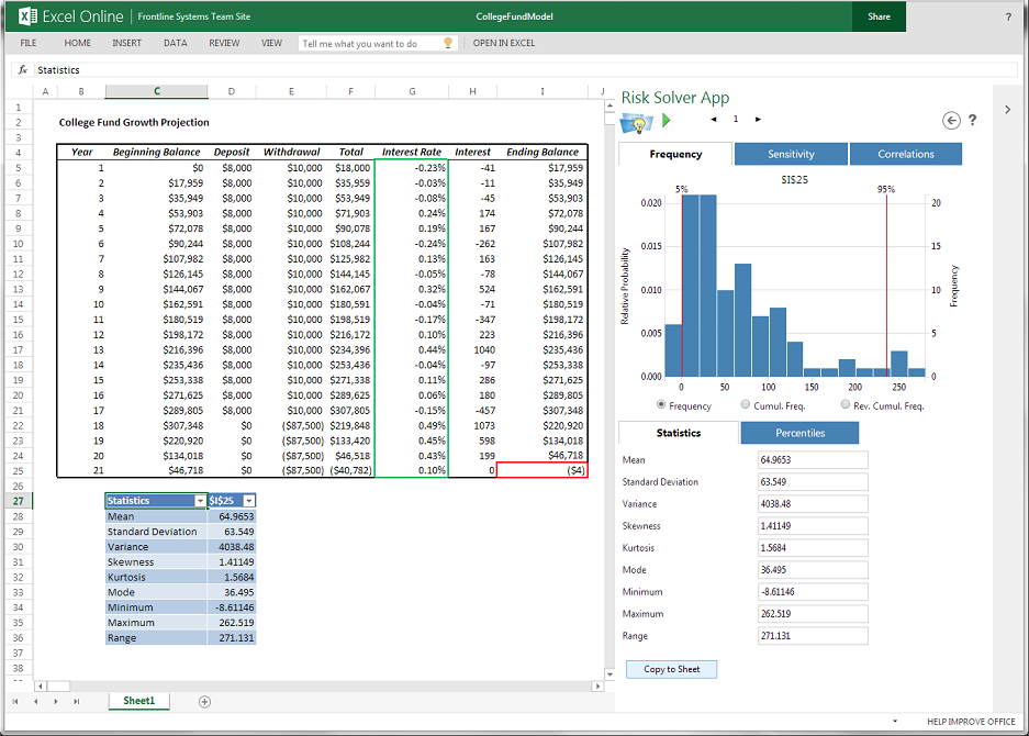 how to run simulations in excel