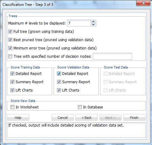 using classification tree solver