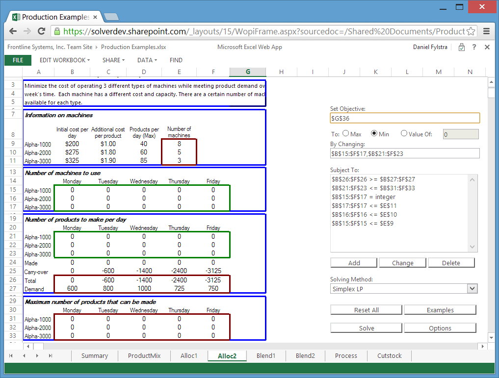 Free Solver App For Office 365 Optimization In The