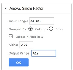 anova single factor solver