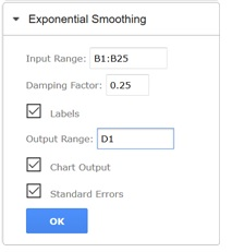 Exponential Smoothing | solver